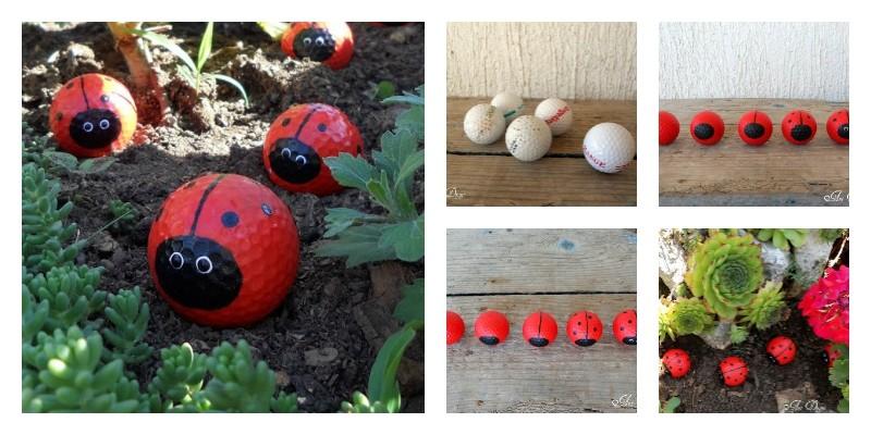 Ladybug Gold Ball Garden Ornaments: Diy Ladybug Golf Balls