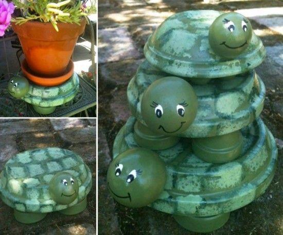 DIY Clay Pot Pet Turtle