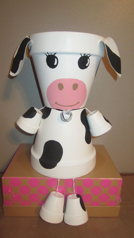 DIY Clay Pot Pet Cow