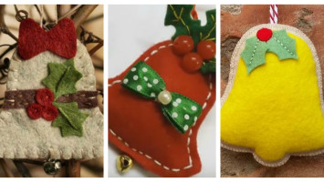 felt christmas bell ornaments