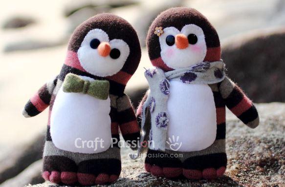 Sock penguin tutorial   imagine our life.