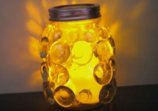 mason jar prism candle